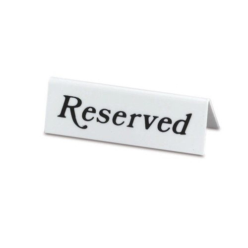 Reserved Signs Template For Tables